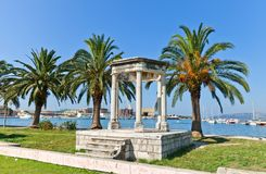 Mormont glory pavilion (1814). Trogir, Croatia. UNESCO site Royalty Free Stock Photos
