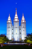 Mormontempel i Salt Lake City, UT Arkivbild