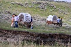 Mormonu Handcart Pionierska wędrówka obrazy royalty free