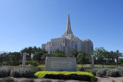 Mormoons Gilbert Arizona Temple In Gilbert Arizona stock fotografie
