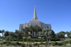Mormoons Gilbert Arizona Temple In Gilbert Arizona royalty-vrije stock foto