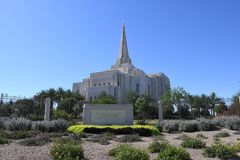 Mormoons Gilbert Arizona Temple In Gilbert Arizona stock afbeeldingen
