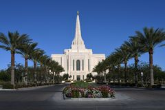 Mormoons Gilbert Arizona Temple In Gilbert Arizona royalty-vrije stock foto's