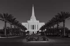 Mormoons Gilbert Arizona Temple In Gilbert Arizona royalty-vrije stock afbeeldingen