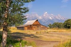 Mormoonse Rijschuur in het Nationale Park van Grand Teton Stock Foto's