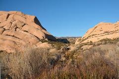 Mormoonse Rotsen in Californië Royalty-vrije Stock Foto's