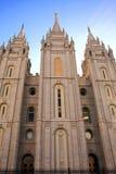 Mormoonse Tempel, Salt Lake City Stock Afbeeldingen