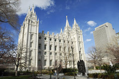 Mormoonse tempel in Salt Lake City Stock Fotografie