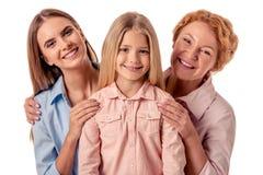 Mormor, mamma och liten flicka Royaltyfri Bild