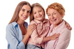 Mormor, mamma och liten flicka Royaltyfri Foto