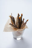 Mormora affumicata nel vetro Fotografia Stock