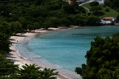 Morne胭脂海滩,格林纳达 免版税库存图片