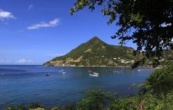 Morne Larcher, liten och nätt Anse, Martinique Arkivfoto