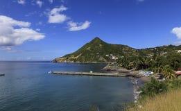 Morne Larcher, liten och nätt Anse, Martinique Arkivfoton