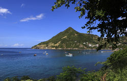 Morne Larcher, Mały Anse, Martinique Zdjęcie Stock