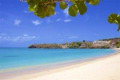 Morne Rouge-strand in Caraïbisch Grenada, stock foto