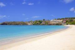 Morne Rouge-strand in Caraïbisch Grenada, royalty-vrije stock afbeeldingen
