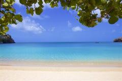 Morne Rouge-strand in Caraïbisch Grenada, stock afbeeldingen