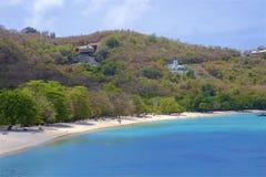 Morne Rouge-strand in Caraïbisch Grenada, stock afbeelding