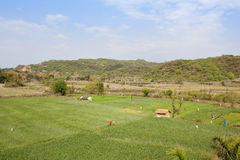 Morni hills farmland Royalty Free Stock Images