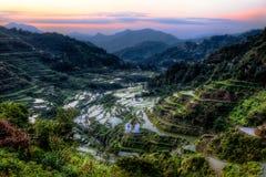 Mornig in anticipo sopra Ifugao fotografia stock libera da diritti