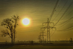 Mornig-Glühen Stockfotografie