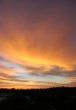 Mornin veloce della nube Fotografia Stock