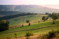 Morning. High up Carpathians mountains royalty free stock image