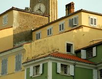 Morning. Slovenia is one of the nicest place is the Balcan. The main square has italian style Stock Photo