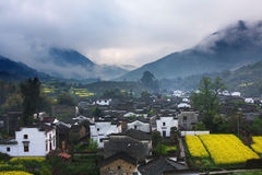 Morning. A village in the morning royalty free stock images