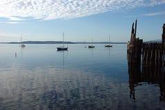 Morning. Boats at Port Townsend, WA Royalty Free Stock Photography