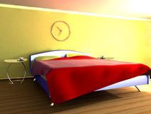 Morning. Scene to beds in room Stock Image