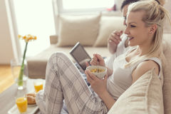 Morning activities Stock Photo