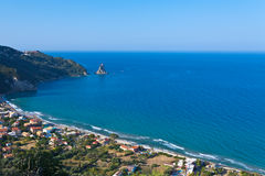 Morning in Agios Gordis. Greece, Corfu Royalty Free Stock Images