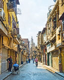 The morning on Al-Muizz street Royalty Free Stock Image