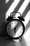 Morning alarm clock. Black and white Royalty Free Stock Photography