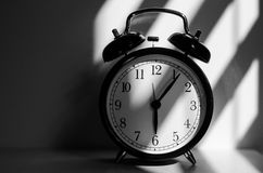 Morning alarm clock. Black and white Stock Photos