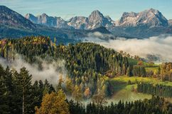 Morning in the Alps royalty free stock image