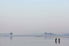 Morning in Amarapura, Burma Stock Image