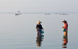Morning in Amarapura, Burma Royalty Free Stock Image