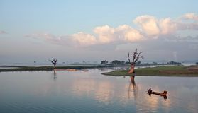 Morning in Amarapura, Myanmar Stock Photography
