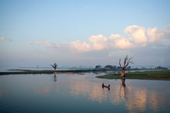 Morning in Amarapura, Myanmar Stock Photos