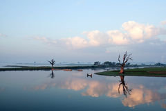 Morning in Amarapura, Myanmar Stock Image