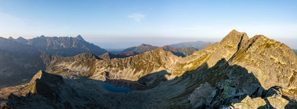 Morning in amazing High Tatras National Park Stock Images