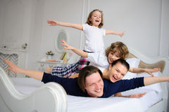 Morning in amicable family. Royalty Free Stock Photos