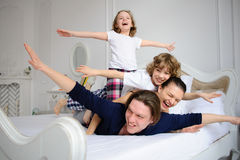Morning in amicable family. Royalty Free Stock Images