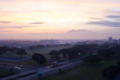 Morning in Angeles city. Beautiful sunrise in angeles city Philippines Royalty Free Stock Images