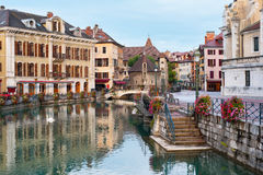 Morning Annecy. Morning view of Annecy and Palais de l'Isle in september. GPS information is in the file Royalty Free Stock Photo