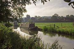 Morning on the ashby canal Royalty Free Stock Photo