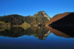 Morning At Lake Wagital, Swiss Alps Stock Photo